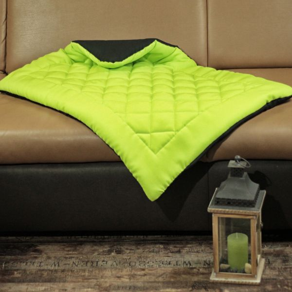Matdox OldBritish Quilted Blanket LIME