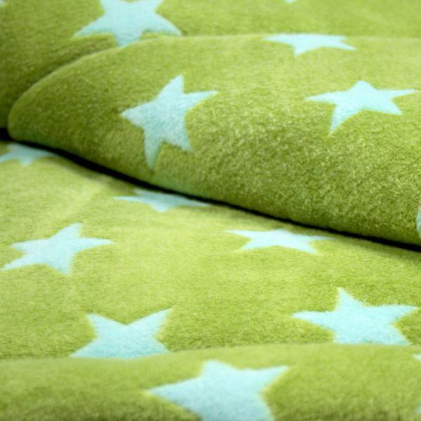 Matdox MONTANA Fleece Decke STARS grün/türkis