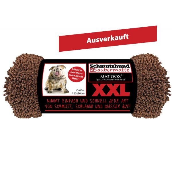 XXL Schmutzhund Saubermatte 120x80cm braun