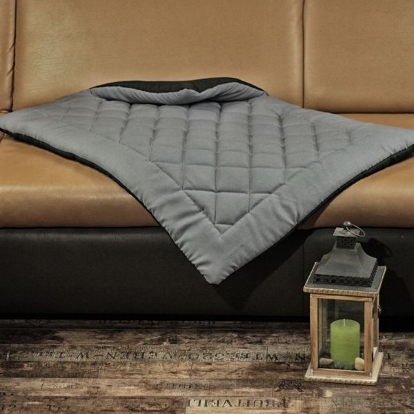 Matdox OldBritish Quilted Blanket GREY