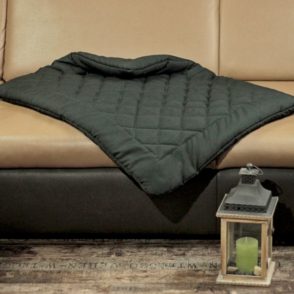 Matdox OldBritish Quilted Blanket BLACK