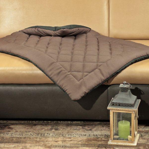 Matdox OldBritish Quilted Blanket BROWN
